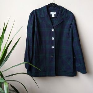 Pendleton Tartan Plaid Wool Button Front Jacket 1X